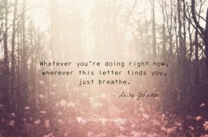 letter breathe